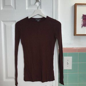 Vince Ribbed Long-Sleeved Top